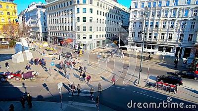 Monumento contra la guerra y el fascismo, Albertinaplatz, Viena, Austria almacen de video