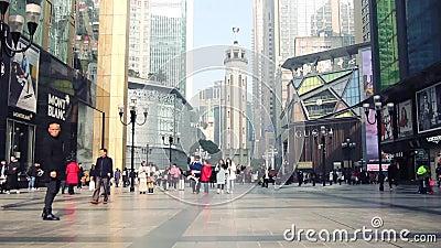 Monumento da libertação dos povos s, Chongqing, China vídeos de arquivo