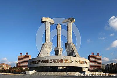 Monumento de Foundatin del partido Imagen de archivo editorial