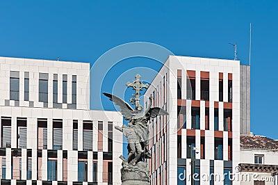Monumento de los mártires en Zaragoza, España