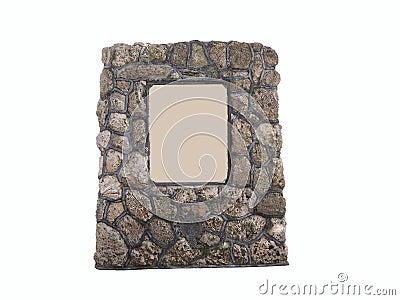 Monumento de piedra coralino de la placa del anuncio