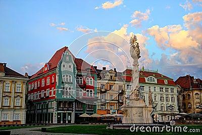Monumento della trinità santa - Timisoara, Romania