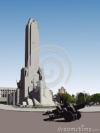 Monumento a la Bandera, Vector