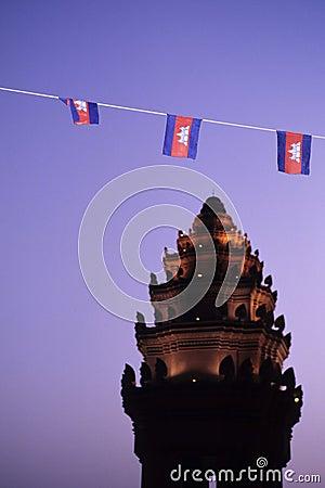 Monumento Phnom Penh da independência, Cambodia