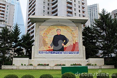 Monuments and architecture of Pyongyang Editorial Photography
