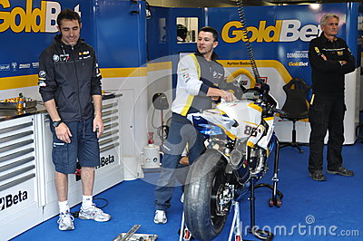 Monza 2012 - BMW Motorrad Italia Goldbet Editorial Photo