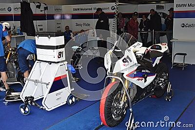 Monza 2012 - BMW Motorrad Motorsport Racing Team Editorial Stock Image