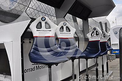 Monza 2012 - BMW Motorrad Motorspot pit wall Editorial Photography
