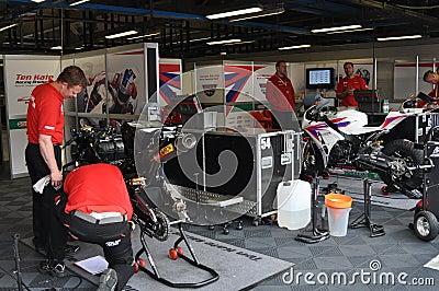 Monza 2012 - Honda Racing World Superbike Team Editorial Stock Image