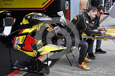 Monza 2012 - Rivamoto Racing Team (Supersport) Editorial Stock Image