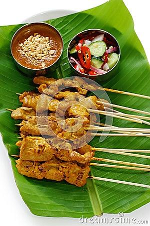 Moo satay, pork satay, thai cuisine