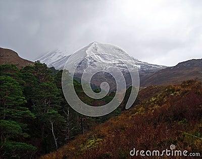 Moody Beinn Eighe Mountain, Scotland
