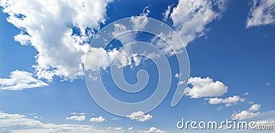 Moody blue sky