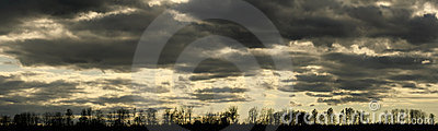 Moody cloudscape panorama
