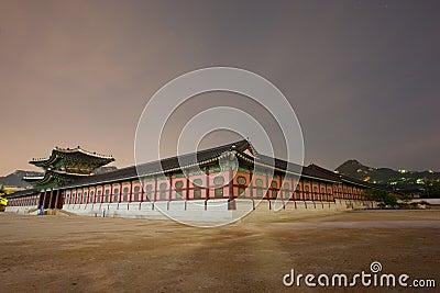 Moody Gyeongbokgung Palace at Night