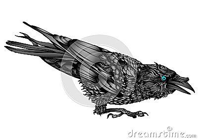 Moody raven