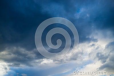 Moody sky full frame