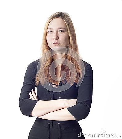 Mooi teder bedrijfsvrouwenportret