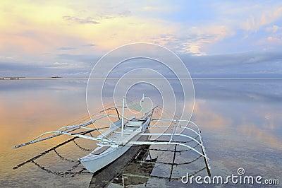 Mooie oceaanmening bij zonsopgang