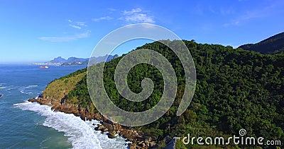 Mooie stranden van fijn wit zand Het strand van Piratininga Rio de Janeiro-staat, Brazili? stock videobeelden