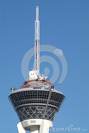 Moon above Stratosphere Editorial Stock Image
