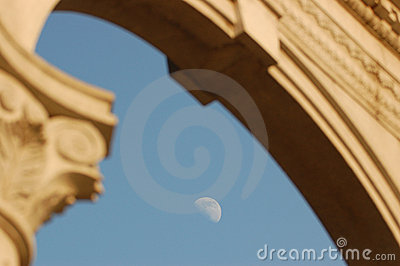 Moon and archway