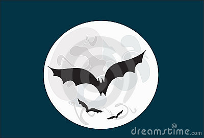 The moon and the bats
