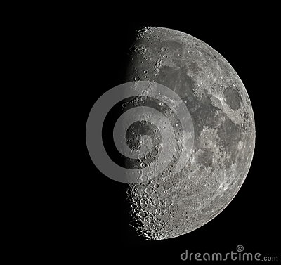 Free Moon By Telescope Stock Photography - 43467962