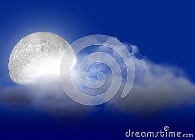 Moon & cloud