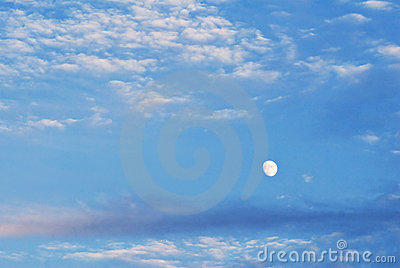 Moon in Cloudscape