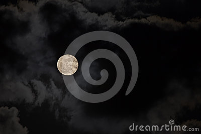 Moon on a dark night