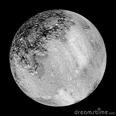 Moon design as maybe seen through telescope