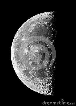 Free Moon Details And Craters Night Sky Observing Over Telescope Royalty Free Stock Photo - 77068685