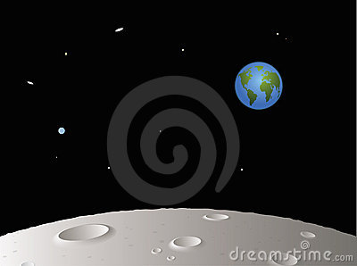 Moon with Distant Earth