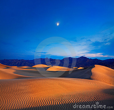 Moon And Dunes