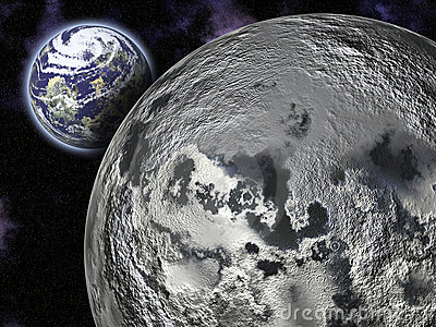The Moon and Earth