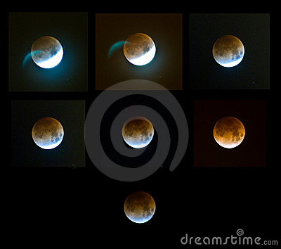 Moon eclipse Editorial Photography