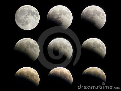 Moon eclipse phases