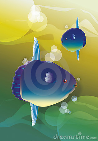 Free Moon Fish And Sea Stock Photos - 17657223