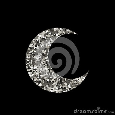 Free Moon Icon On Black Background. Royalty Free Stock Photos - 141741738