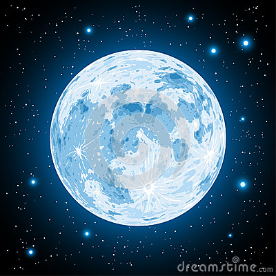 Free Moon In Vector Stock Image - 51705071