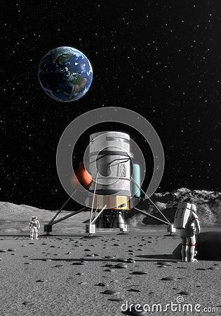 Free Moon Lander Stock Photos - 12519573