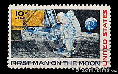 Moon landing Editorial Stock Photo