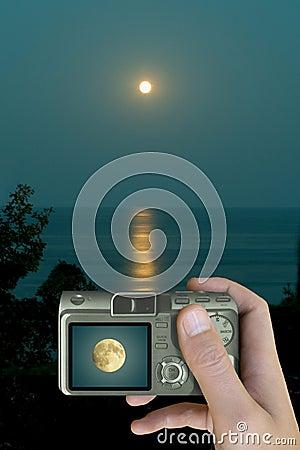 Moon on LCD