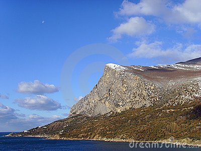The Moon on mountain Coosh-Cue daytime