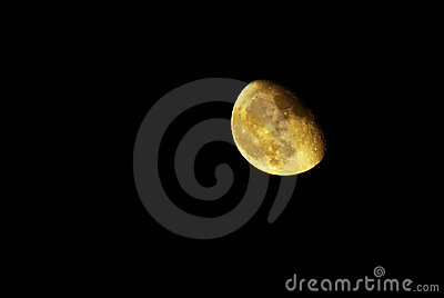 Moon in night sky