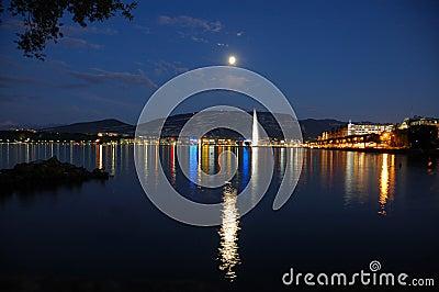 Moon Over Geneva