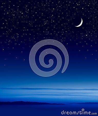 Free Moon Over Ocean Stock Photo - 11628550
