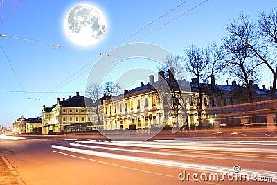 Moon over St-Petersburg