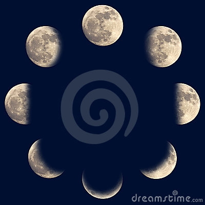 Free Moon Phases Royalty Free Stock Photos - 24243088